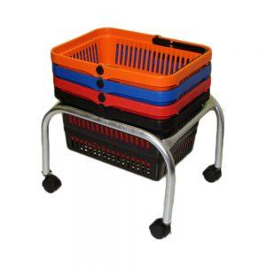 Jumbo Basket Stand (JBS-Castors)